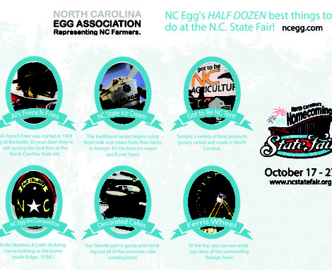 NC Egg's HALF DOZEN best things to do at the N.C. State Fair!