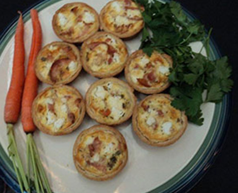 Fall Harvest Mini Quiche