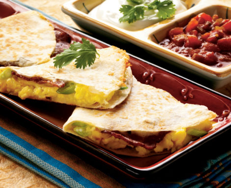 BACON & EGG QUESADILLAS