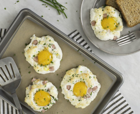 Cloud Eggs with Ham