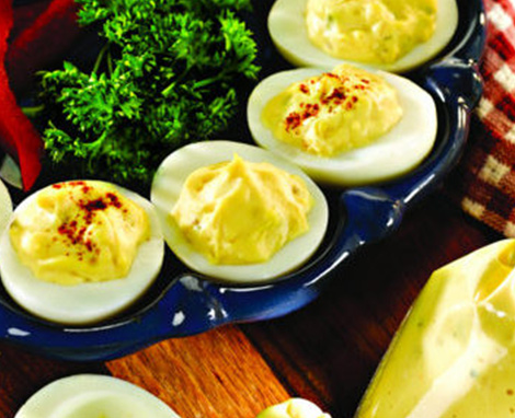 Deviled Eggs with Legs