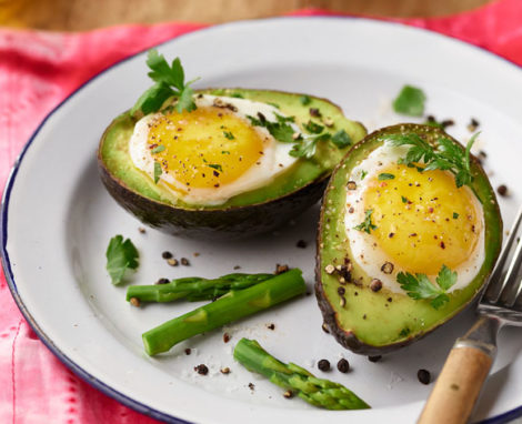 DUDE'S BAKED AVOCADO EGGS