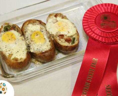 Egg & Polish Sausage Stuffed Potatoes