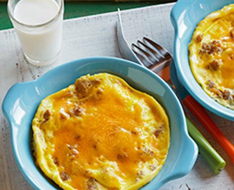 Egg, Sausage & Cheddar Breakfast Bowl