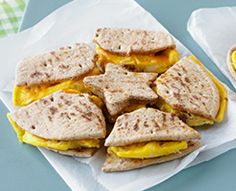 Egg, Sausage & Cheese Breakfast Puzzle Sandwich