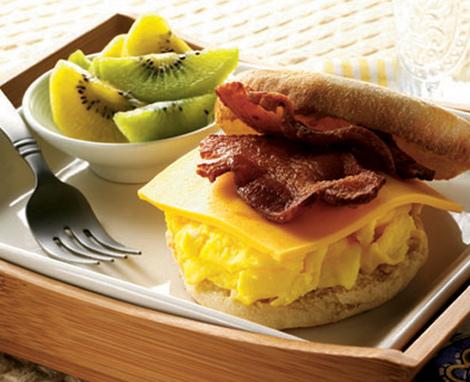 Egg & Bacon Muffin Sandwich