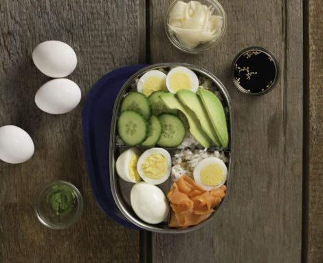 Hard Boiled Egg Bento Box