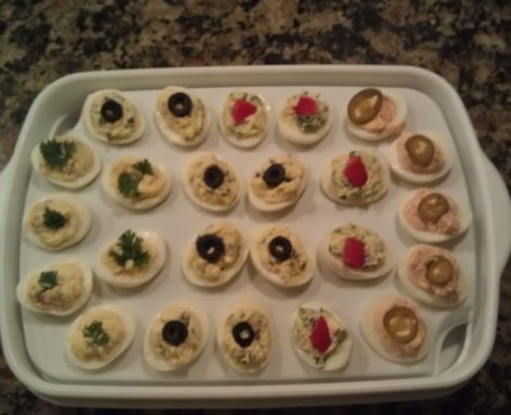 Worldly Deviled Eggs