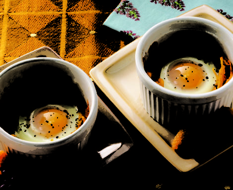 Mexican-Style Eggs In A Nest