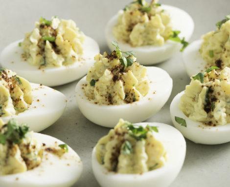Quinoa and Greek Yogurt Devilled Eggs
