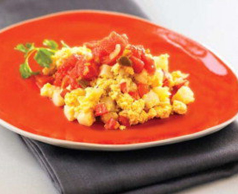 Scrambled Eggs With Zesty Toppings