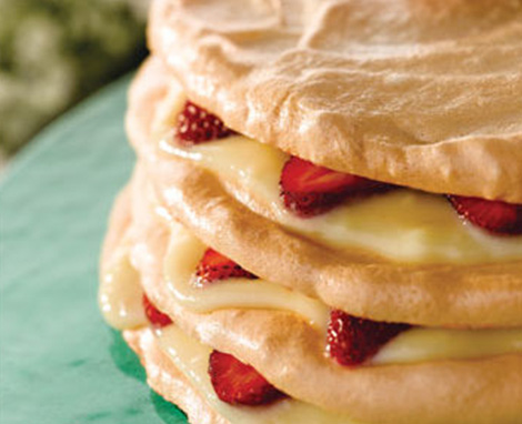 Stacked Meringue Torte