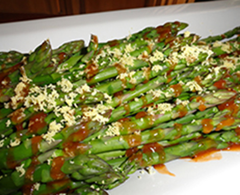 Steamed Asparagus with French Vinaigrette