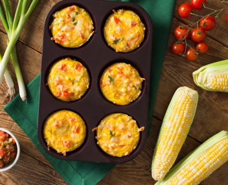 Tex Mex Hash Brown Egg Cups