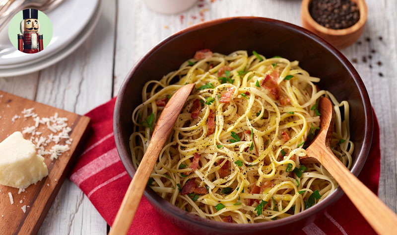 THE NUTCRACKER'S PASTA CARBONARA