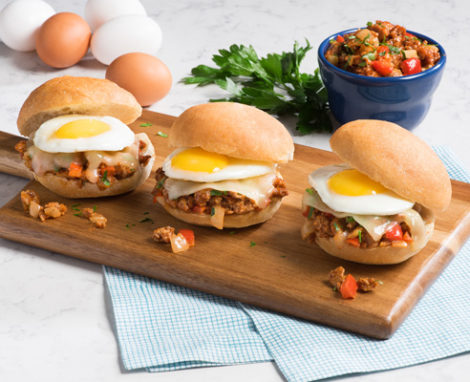 Turkey Sloppy Joes with Egg Sliders