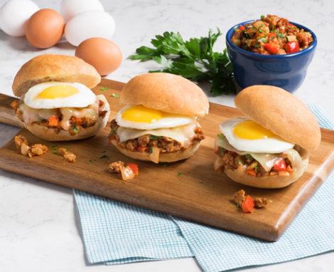 Turkey Sloppy Joes with Egg Sliders