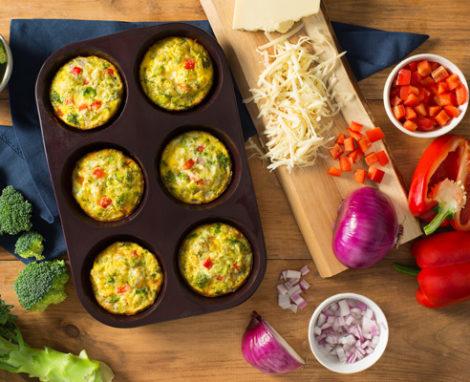 Veggie & Egg Crustless Quiche