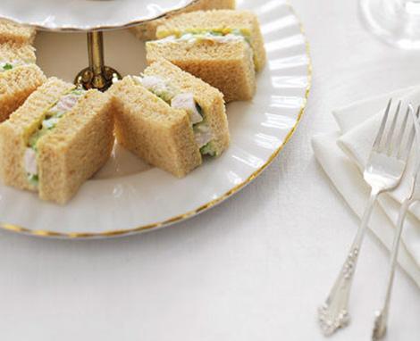 Chicken Almond Finger Sandwiches