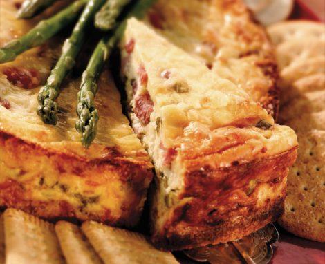 Asparagus & Ham Cheesecake