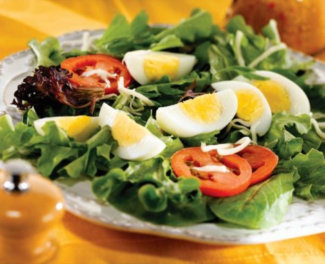 Mixed Greens Salad with Eggs