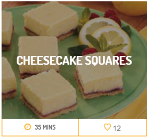 Cheesecake Squares