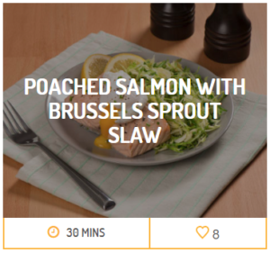 Poached Salmon with brussel sprout slaw
