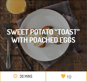 Sweet Potato Toast with Poached Eggs