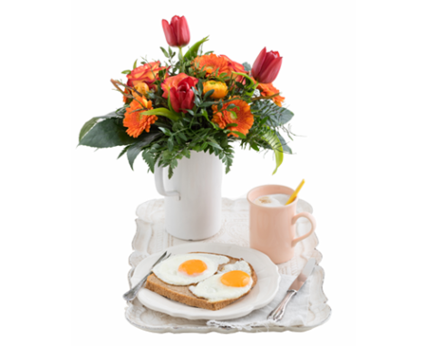 mothers day_pic of flowers and eggs
