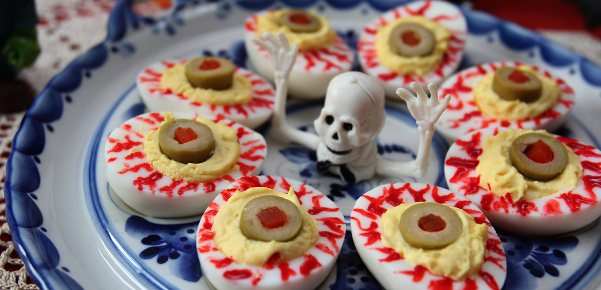 Bloodshot Eyeball Deviled Eggs