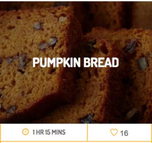 pumpkin bread nc egg