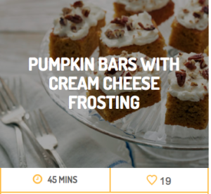 pumpkin bars with cream cheese frosting nc egg