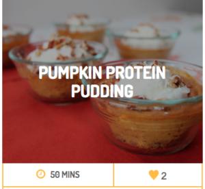 pumpkin protein pudding