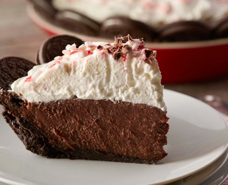 CHOCOLATE CREAM PIE WITH PEPPERMINT WHIPPED CREAM