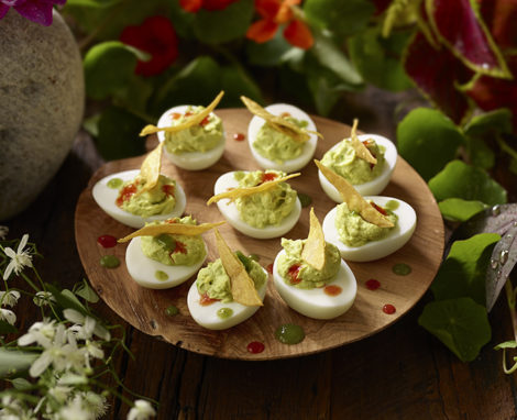 EVE'S GUAC DEVILED EGGS