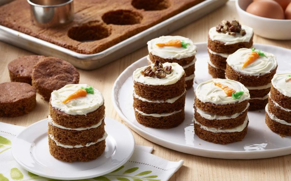 Carrot Cake Mini Stacks with Cream Cheese Frosting