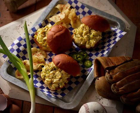 GREEN CHILE EGG SALAD SLIDERS