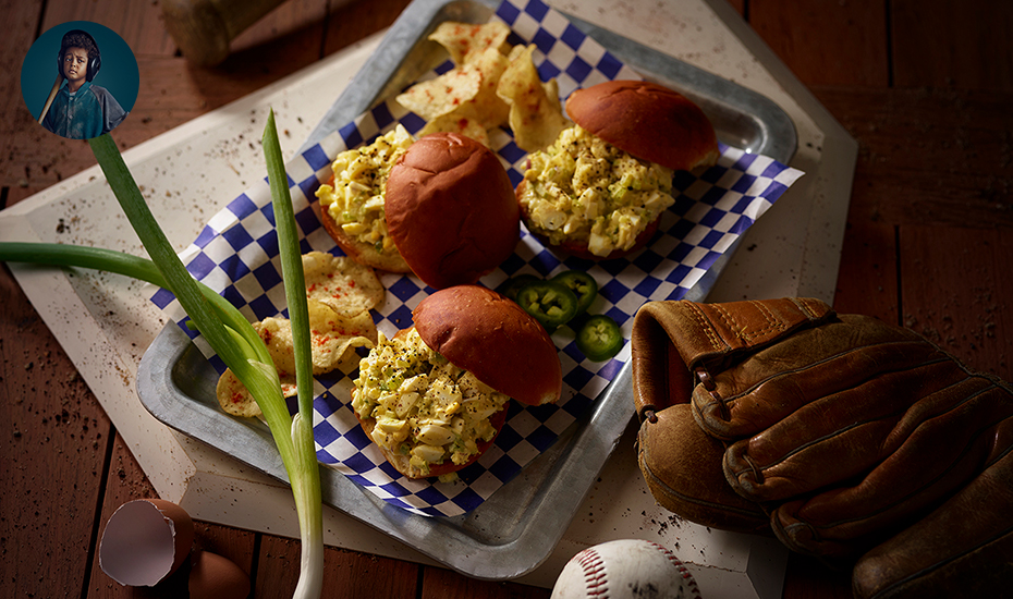 BOY OF STEAL'S GREEN CHILE EGG SALAD SLIDERS