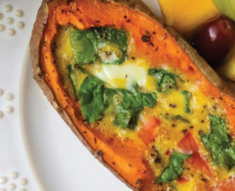 Sweet Potato Egg Boats