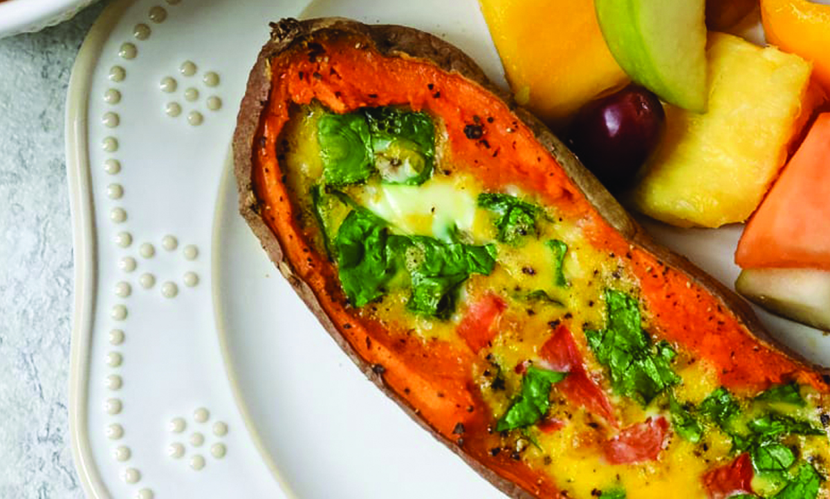 Egg Sweet Potato Boats