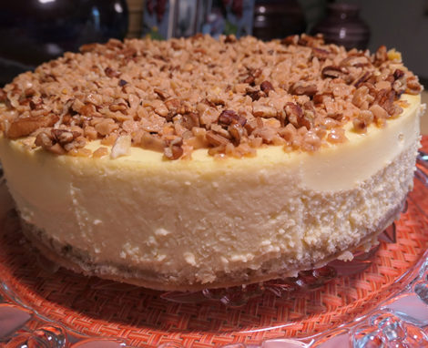 Pecan Toffee Cheesecake