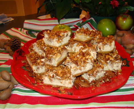 Apple Pecan Cheesecake Bars