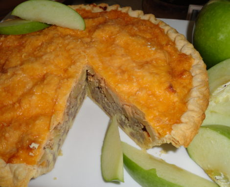 Apple, Sausage and Cheddar Torte