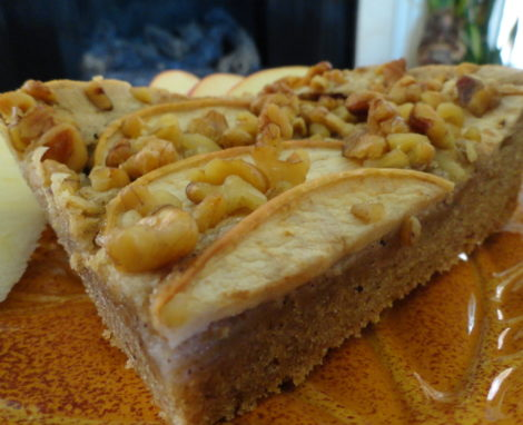 Raw Apple Walnut Cake