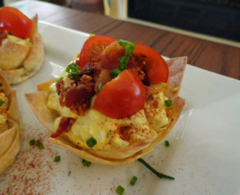 Egg Salad BLT Cups