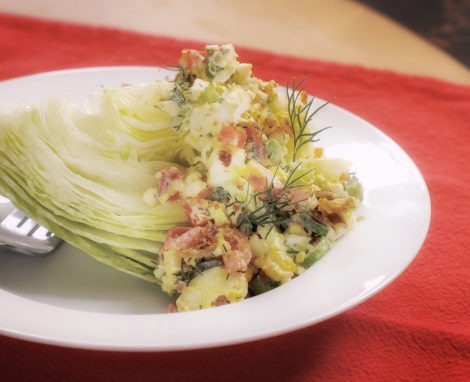 Lemon-Dill Egg Wedge Salad