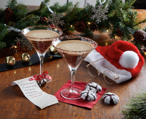 St. Nick's Chocolate Eggnog Martini