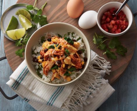 Chicken and Egg Burrito Bowl