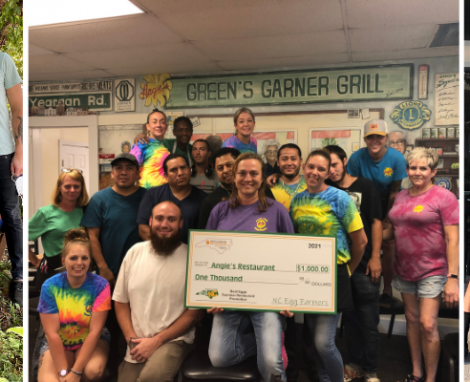 NC Egg Farmers Award $1,000 in Support to 3 Independent Restaurants
