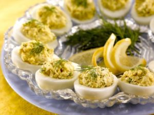 Crab-Stuffed Deviled Eggs